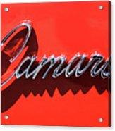 1969 Chevrolet Camaro Z-28 302 Emblem -0152c Acrylic Print