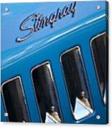 1969 Chevrolet Corvette Stingray Emblem Acrylic Print