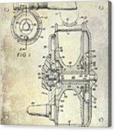1969 Fly Reel Patent Acrylic Print