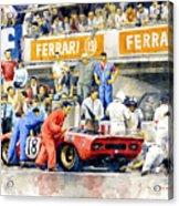 1969 Le Mans 24 Ferrari 312p Pedro Rodriguez  David Piper Acrylic Print
