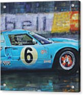 1969 Le Mans 24 Ford Gt40 Jacky Ickx Jackie Oliver Winner Acrylic Print