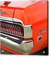 1969 Mercury Cougar Tail Light With Logos Acrylic Print