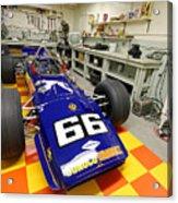 1969 Penske Indy Car In Garage Acrylic Print
