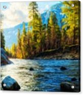 Nature Oil Painting Landscape Acrylic Print