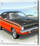 1970 Barracuda Aar  Cuda Classic Muscle Car Acrylic Print