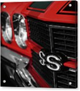 1970 Chevelle Ss396 Ss 396 Red Acrylic Print