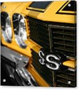 1970 Chevelle Ss396 Ss 396 Yellow Acrylic Print