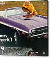 1970 Dodge Challenger Rt Convertible Acrylic Print