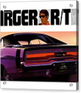 1970 Dodge Charger Rt Acrylic Print