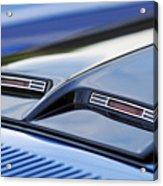 1970 Ford Mustang Gt Mach 1 Hood Acrylic Print