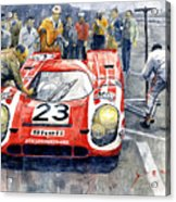 1970 Le Mans 24 Porsche917k Attwood Herrmann Winner  Acrylic Print