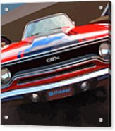 1970 Plymouth Gtx Vectorized Acrylic Print