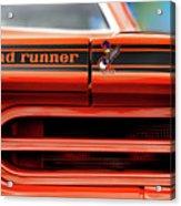 1970 Plymouth Road Runner - Vitamin C Orange Acrylic Print