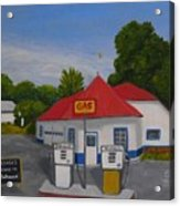 1970s Gas Station Acrylic Print