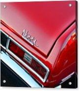 1971 Chevy Nova - Red Acrylic Print
