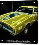 1971 Dodge Charger Superbee - Electric Acrylic Print