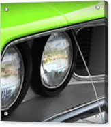 1971 Plymouth Barracuda Cuda Sublime Green Acrylic Print