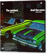 1971 Plymouth Duster 340 And Twister Acrylic Print