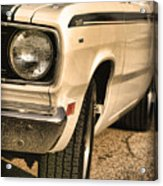 1971 Plymouth Duster 340 Four Barrel Acrylic Print