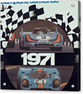 1971 Porsche World Champion Poster Acrylic Print