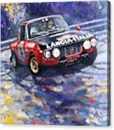 1972 Rallye Monte Carlo Lancia Fulvia 1600hf Munari Mannucci Winner Acrylic Print