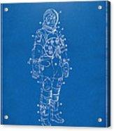 1973 Astronaut Space Suit Patent Artwork - Blueprint Acrylic Print by Nikki Marie Smith