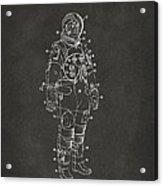 1973 Astronaut Space Suit Patent Artwork - Gray Acrylic Print