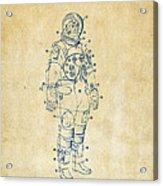 1973 Astronaut Space Suit Patent Artwork - Vintage Acrylic Print