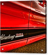 1973 Ford Mustang Mach 1 351 High Performance Acrylic Print