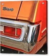 1973 Plymouth Scamp Tail Lights And Logo Acrylic Print