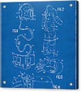 1973 Space Suit Elements Patent Artwork - Blueprint Acrylic Print by Nikki Marie Smith