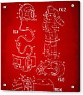 1973 Space Suit Elements Patent Artwork - Red Acrylic Print by Nikki Marie Smith
