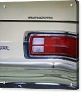 1974 Plymouth Duster Tail Light With Logos Acrylic Print