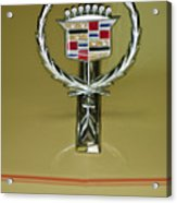 1976 Cadillac Eldorado Convertible Hood Ornament Acrylic Print