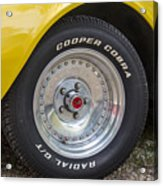 1976 Canary Yellow Vette Wheel Acrylic Print