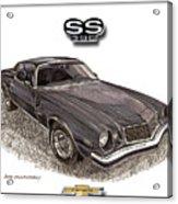 1976 Chevrolet Camato S S 396 Acrylic Print