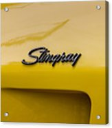 1976 Corvette Stingray Side Emblem Acrylic Print