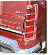 1977 Lincoln Continental Mark V With Tail Lights And Logo Acrylic Print