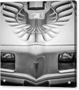 1979 Pontiac Trans Am Hood Firebird -0812bw Acrylic Print