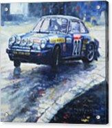 1980 Criterium Lucien Bianchi Porsche Carrera Keller Hoss #20 Acrylic Print