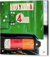 1982 Toyota Fj43 Land Cruiser Tail Light Emblem -0483g Acrylic Print