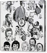 1984 Boston Celtics Championship Newspaper Poster Acrylic Print