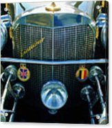 1984 Excalibur Roadster Grille Acrylic Print