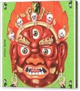 1984 Mongolia God Ulan Yadam Mask Postage Stamp Acrylic Print