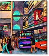 1984 Vision Of Times Square 2015 Acrylic Print