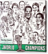 1986 Boston Celtics Championship Newspaper Poster Acrylic Print