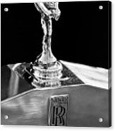 1986 Rolls-royce Hood Ornament 2 Acrylic Print