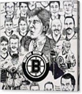 1988 Boston Bruins Newspaper Poster Acrylic Print by Dave Olsen