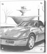 1989 Chevrolet Corvette Sports Car Art Print Acrylic Print