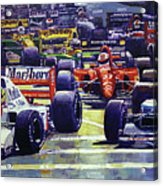 1992 Monaco Gp Start  Acrylic Print